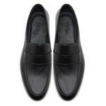Siyah Luigi Erkek Deri Loafer 2010047251002