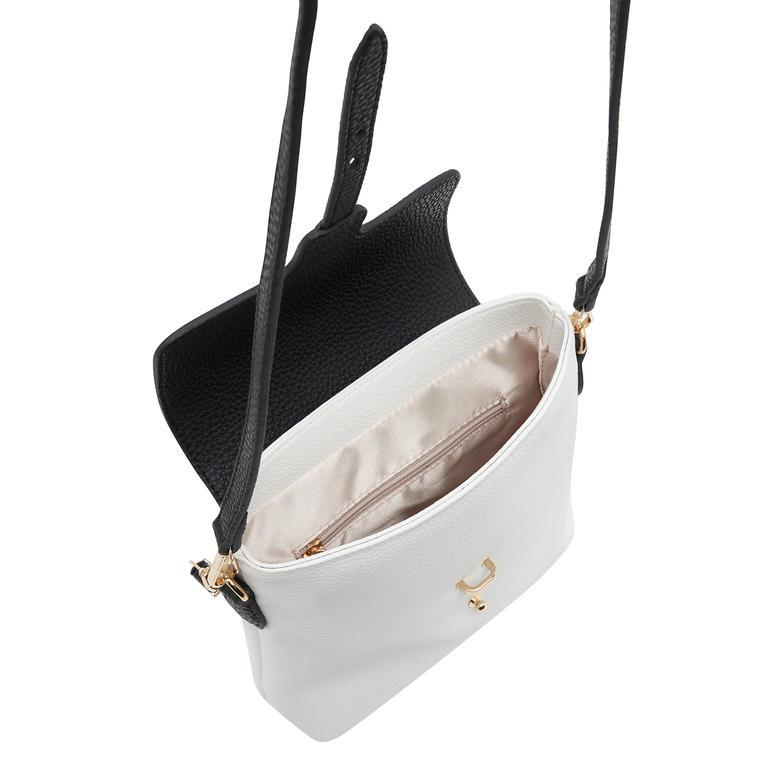 Beyaz Kemerli Kadın Omuz Askılı Çanta 2010047583001