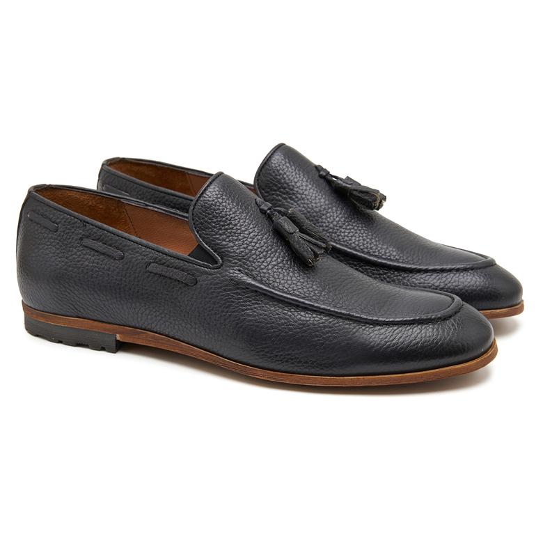 Siyah Luke Erkek Deri Loafer 2010047253002