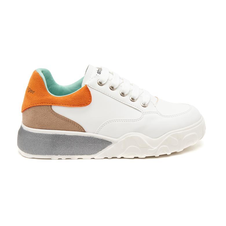 Beyaz Cali Kadın Spor Ayakkabı 2010047319009