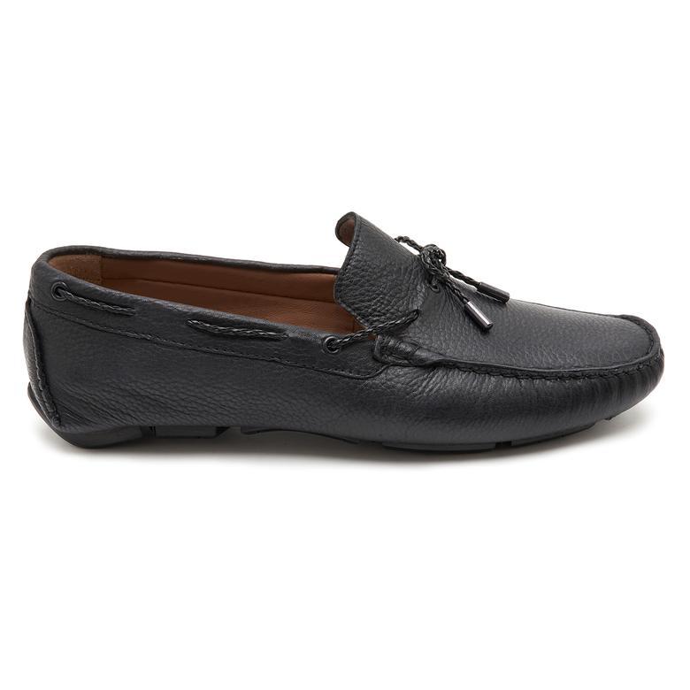 Siyah Positano Erkek Deri Loafer 2010047040001
