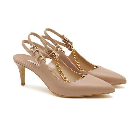 Rosa Zincir Detaylı Kadın Deri Klasik Ayakkabı 2010047244008