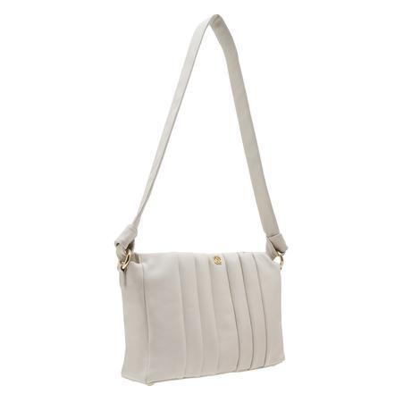 Lupin Beyaz Kadın Pilili Deri Omuz Askılı Çanta 1010031967002