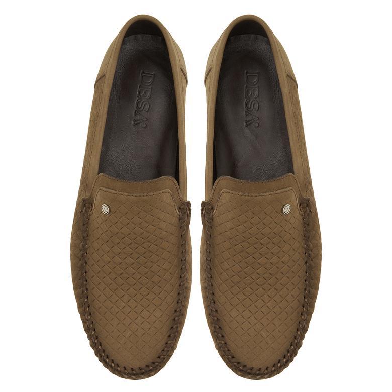 Bej Luca Erkek Nubuk Günlük Ayakkabı 2010047665006