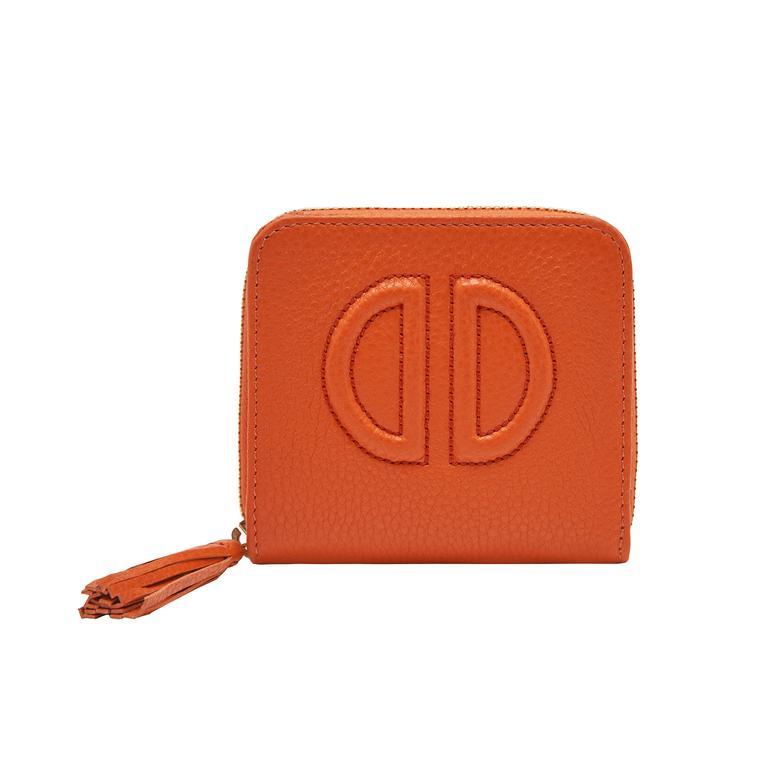 Turuncu D Logolu Kadın Deri Cüzdan 1010031120001