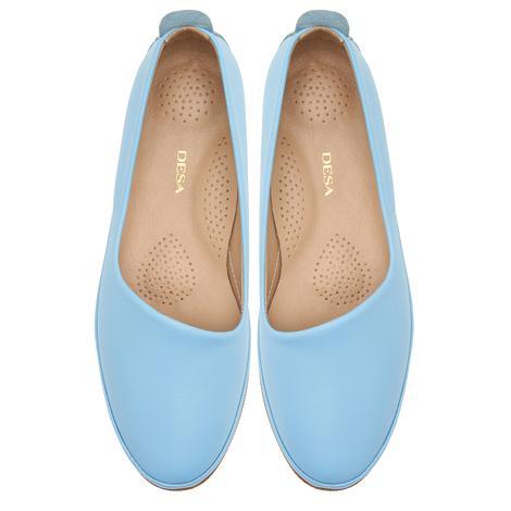 Mavi Kamille Kadın Deri Günlük Ayakkabı 2010047397014