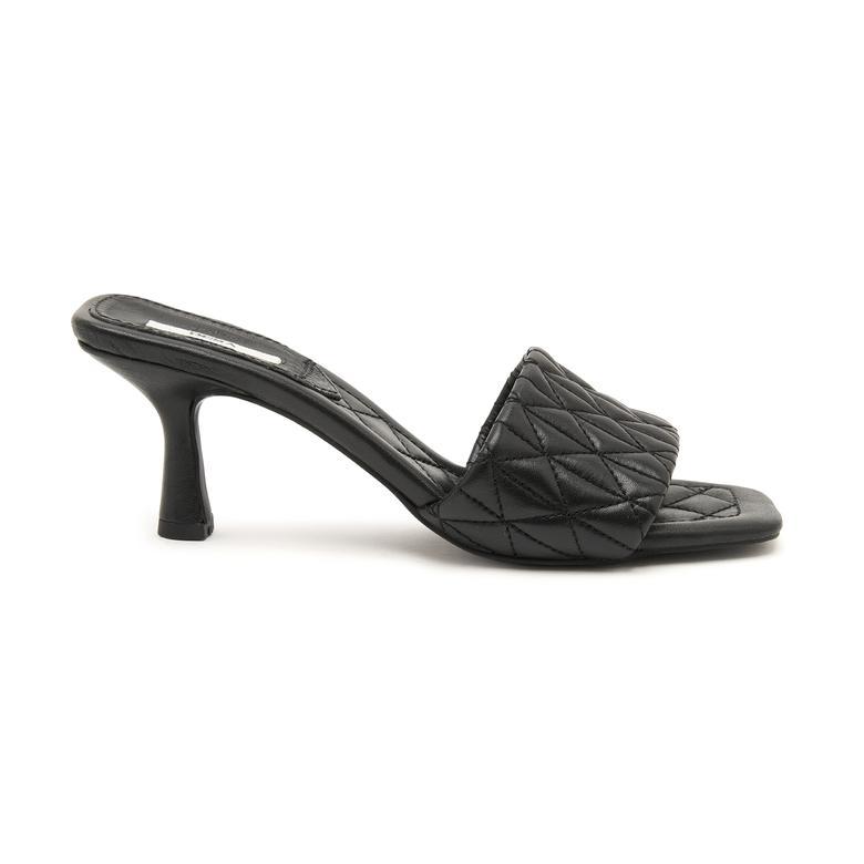 Calvina Kadın Topuklu Deri Terlik 2010047430007