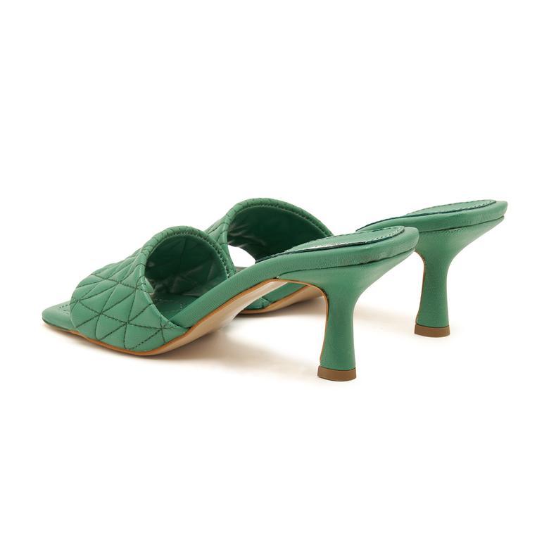 Calvina Kadın Topuklu Deri Terlik 2010047430019