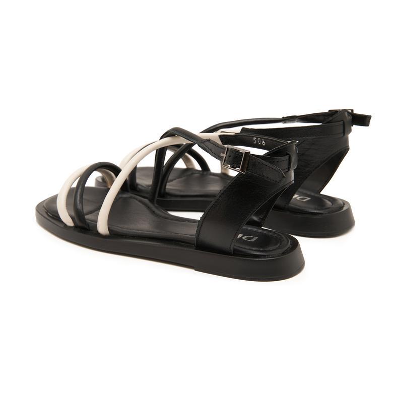 Siyah Tulipe Kadın Sandalet 2010047445001