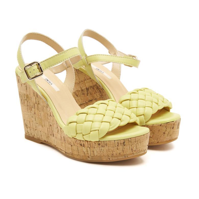 Aleece Dolgu Topuk Kadın Sandalet 2010047427013