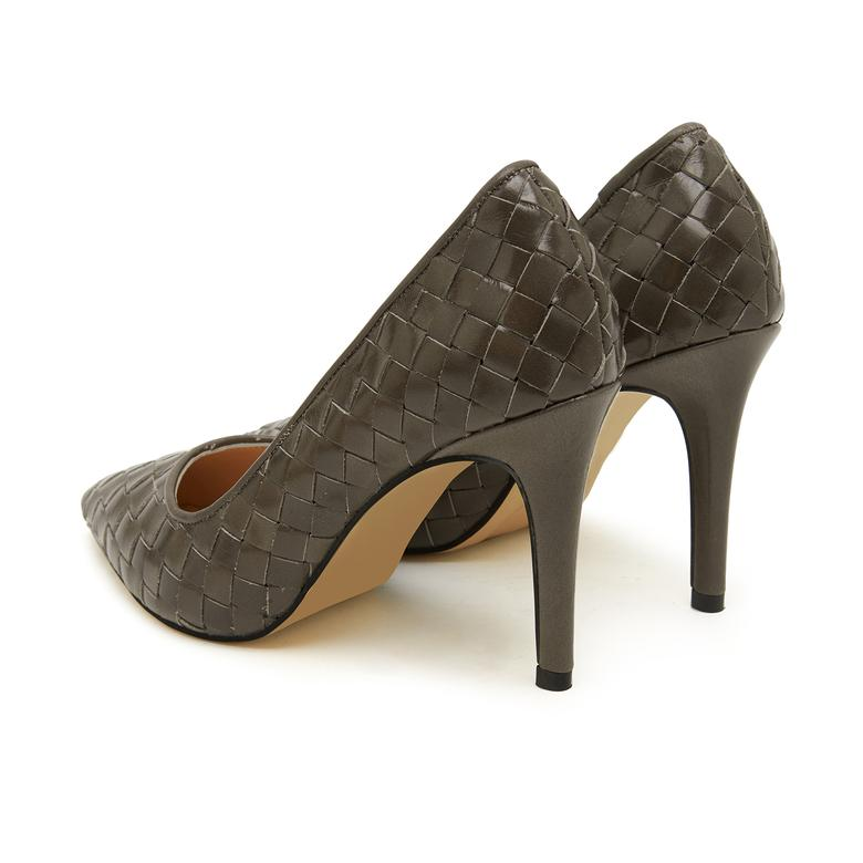 Gri Alba Kadın Klasik Ayakkabı 2010047677019