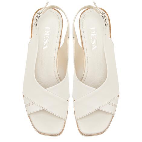 Beyaz Fleur Kadın Sandalet 2010047441002
