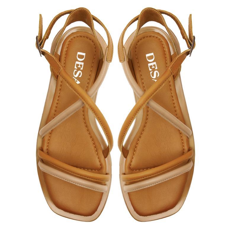 Bej Tulipe Kadın Sandalet 2010047445007