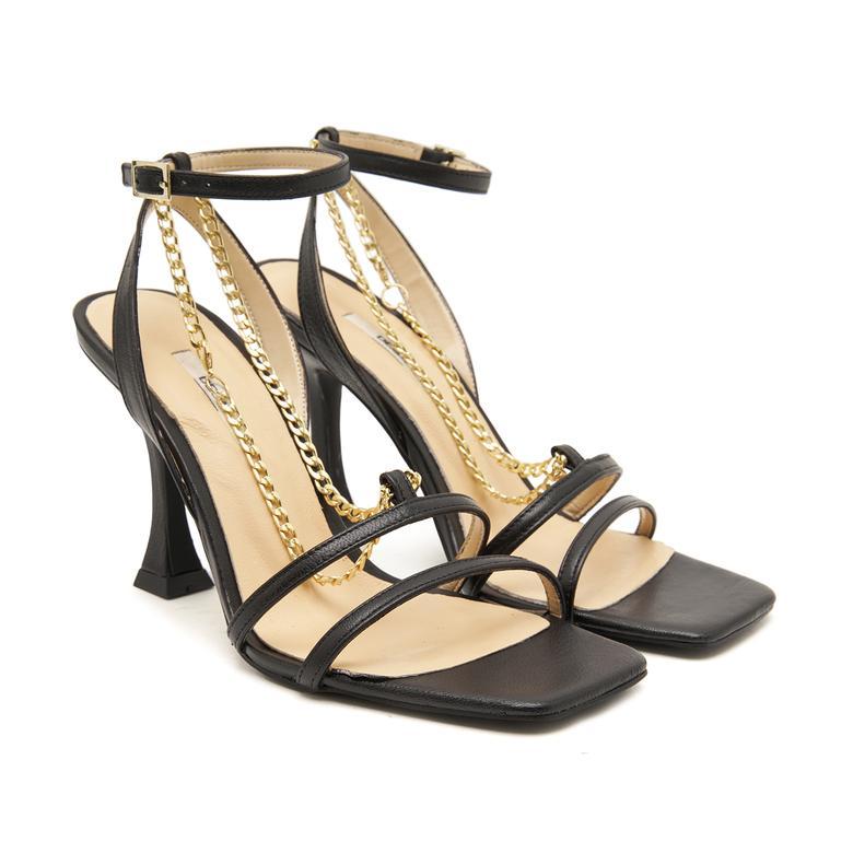 Delcine Zincir Aksesuarlı Kadın Sandalet 2010047431007
