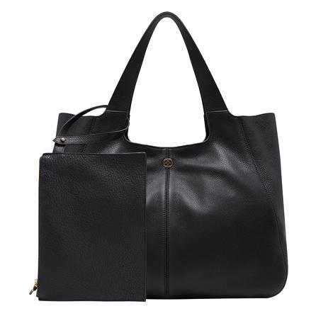Siyah Megan Kadın Deri Omuz Askılı Çanta 1010032018001