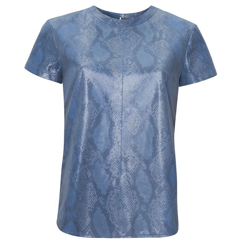 Mavi Grazia Kadın Deri Bluz 1010032177005