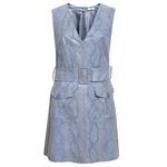 Morena Kadın Piton Baskılı Deri Elbise 1010032173002