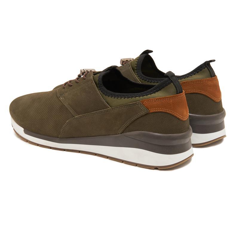 Yeşil Jeff Erkek Nubuk Spor Ayakkabı 2010047612007