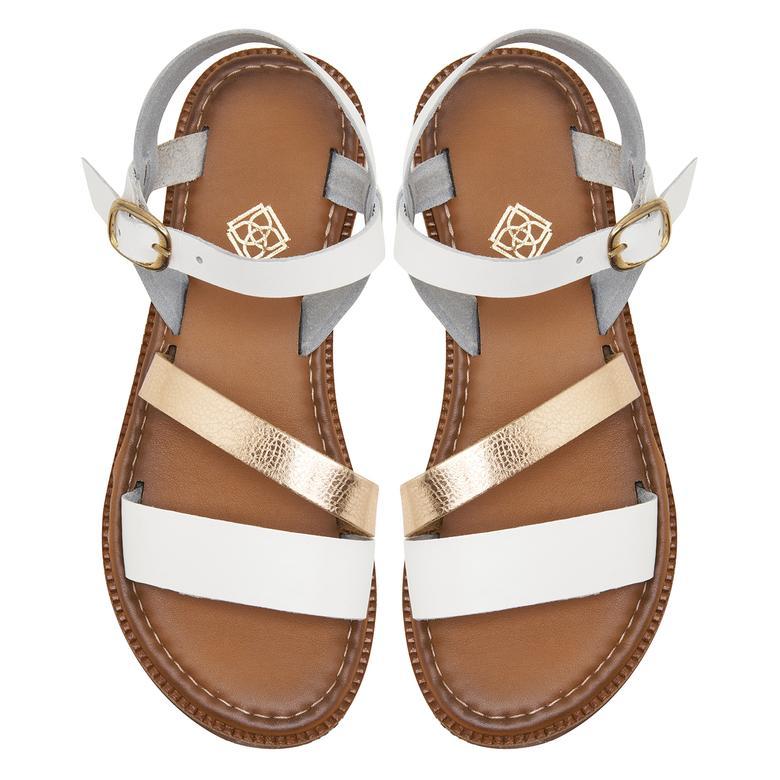 Beyaz Kadın Sandalet 2010047776006