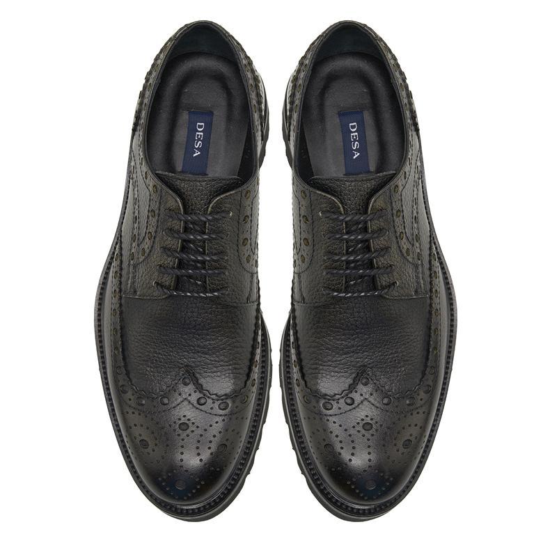 Rubb Siyah Erkek Deri Günlük Ayakkabı 2010047786002