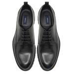 Frosted Siyah Erkek Deri Günlük Ayakkabı 2010047790001