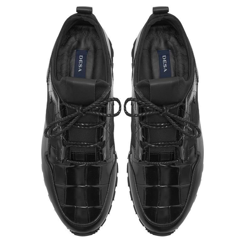 Mylo Siyah Erkek Deri Spor Ayakkabı 2010047768001