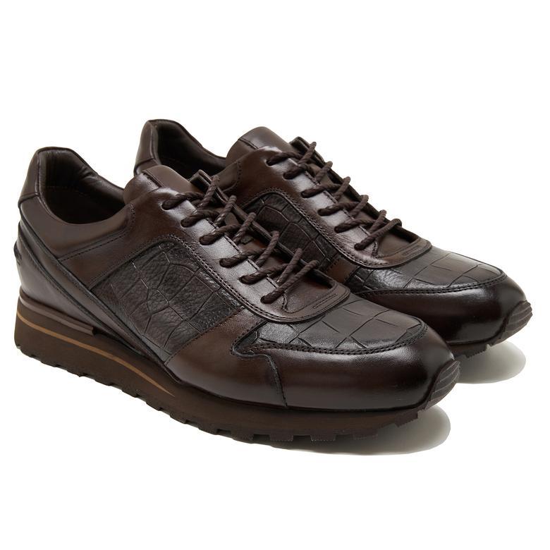 Max Kahve Erkek Deri Spor Ayakkabı 2010047788013