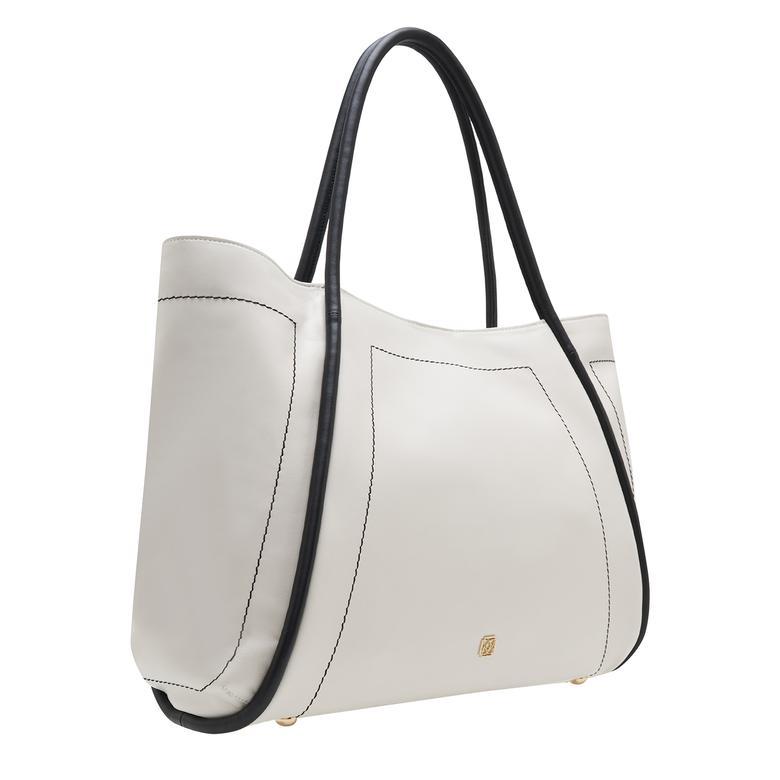 Beyaz Jones Kadın Deri Omuz Askılı Çanta 1010032023002