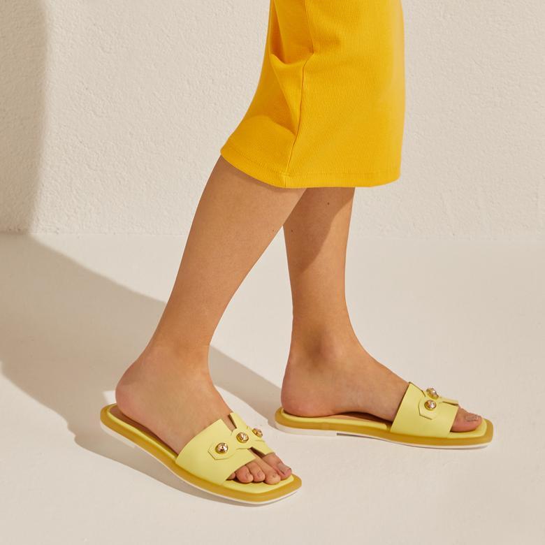 Sarı Crocus Kadın Terlik 2010047443002