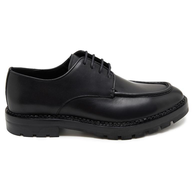Mazing Siyah Erkek Deri Günlük Ayakkabı 2010047767001