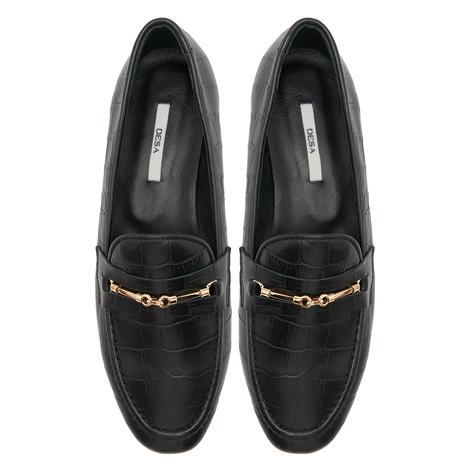 Palmera Siyah Kadın Deri Loafer Günlük Ayakkabı 2010047958001