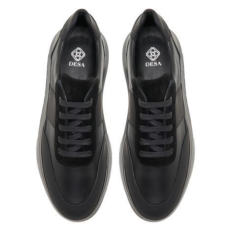 Tula Siyah Erkek Deri Spor Ayakkabı 2010047926002