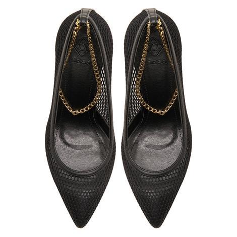 Siyah Karla Kadın Klasik Ayakkabı 2010047317009