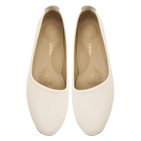 Beyaz Kamille Kadın Deri Günlük Ayakkabı 2010047397007