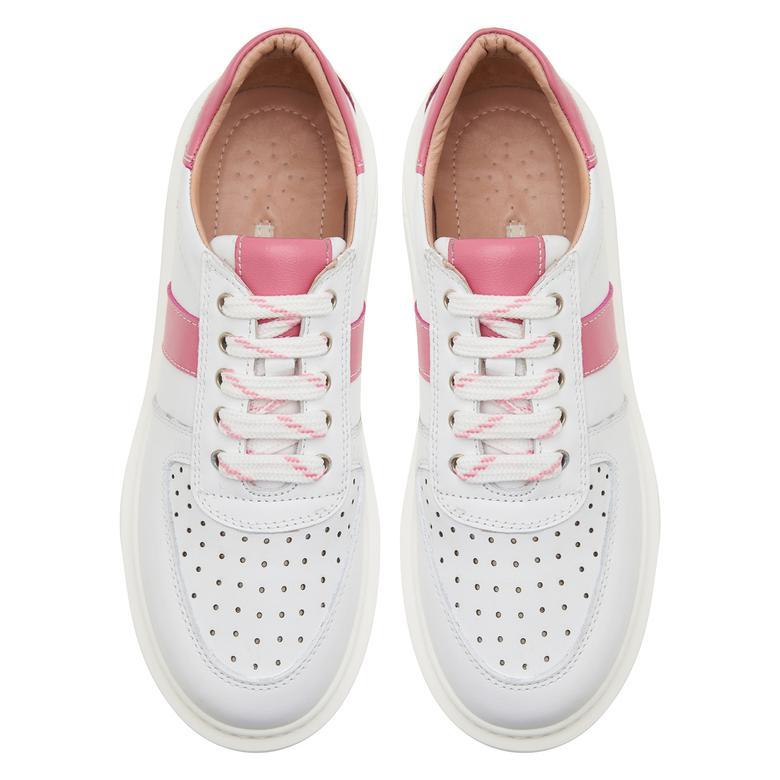 Pembe Ange Kadın Deri Spor Ayakkabı 2010047421002