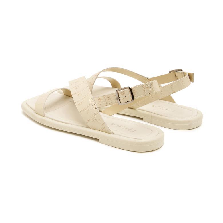 Beyaz Ornella Kadın Sandalet 2010047440007