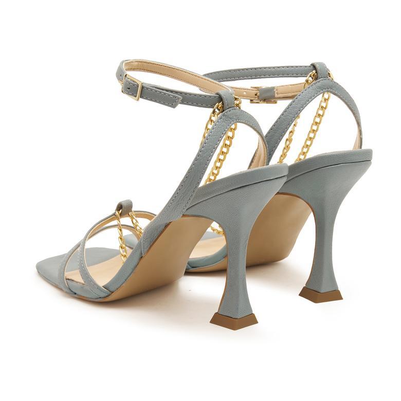 Delcine Zincir Aksesuarlı Kadın Sandalet 2010047431002