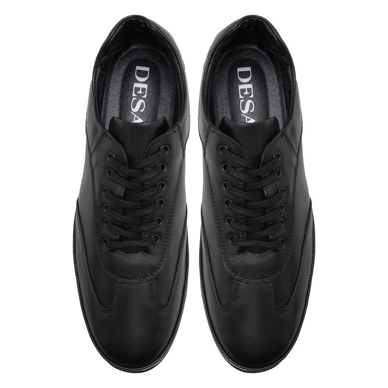 Rudra Siyah Erkek Deri Günlük Ayakkabı 2010047909005