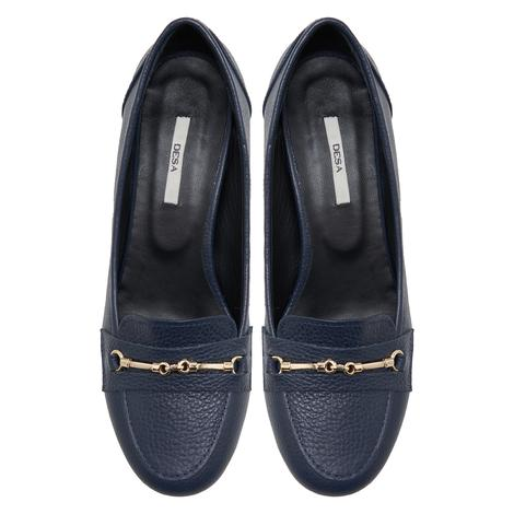 Lyra Lacivert Kadın Deri Klasik Ayakkabı 2010047944014