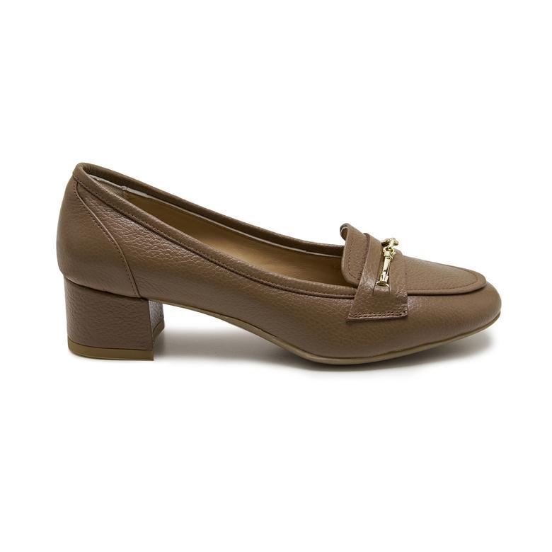 Lyra Açık Kahve Kadın Deri Klasik Ayakkabı 2010047944005