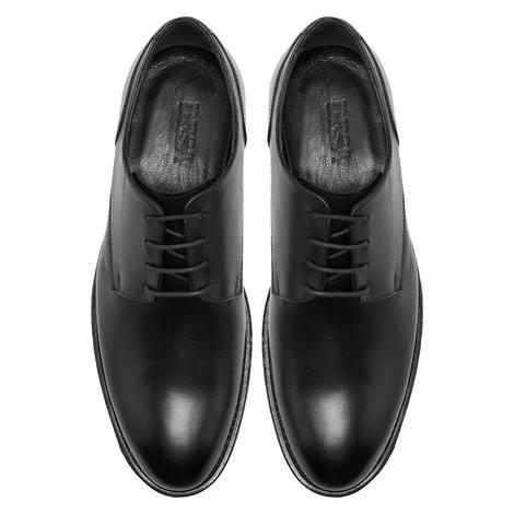 Esteban Siyah Erkek Deri Klasik Ayakkabı 2010048030001