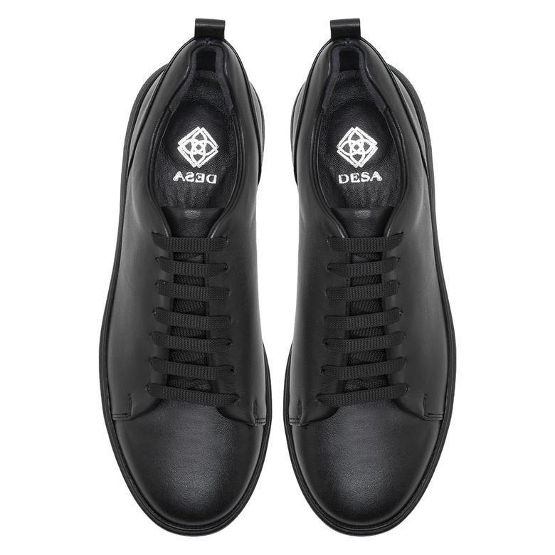 Tiff Siyah Kadın Deri Spor Ayakkabı 2010047969002