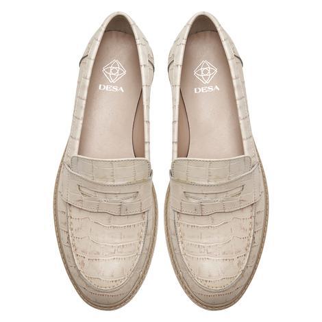 Kallen Beyaz Kadın Kroko Baskılı Deri Günlük Ayakkabı 2010047960009