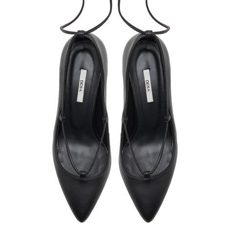 Follafe Siyah Kadın Deri Klasik Ayakkabı 2010047999001