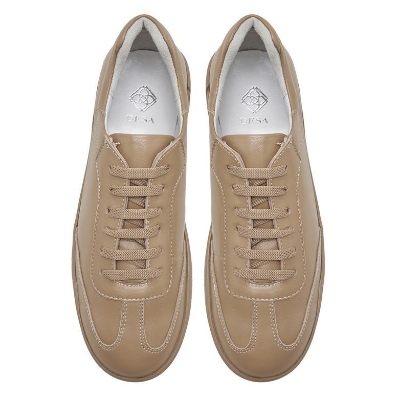 Wendie Bej Kadın Deri Spor Ayakkabı 2010048048012