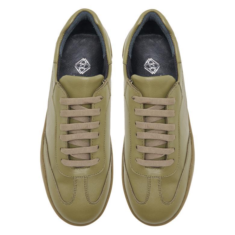 Wendie Yeşil Kadın Deri Spor Ayakkabı 2010048048006