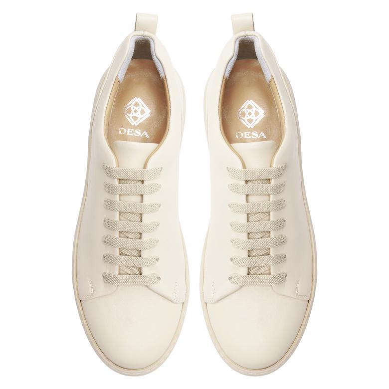 Tiff Beyaz Kadın Deri Spor Ayakkabı 2010047969006