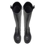 Isabella Siyah Kadın Deri Çizme 2010048061001